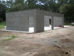 Строительство частного дома из шлакоблоков