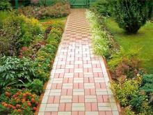 Садовые дорожки из тротуарной плитки