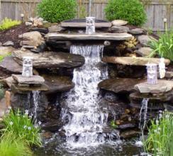 Этапы создания садового пруда с водопадом